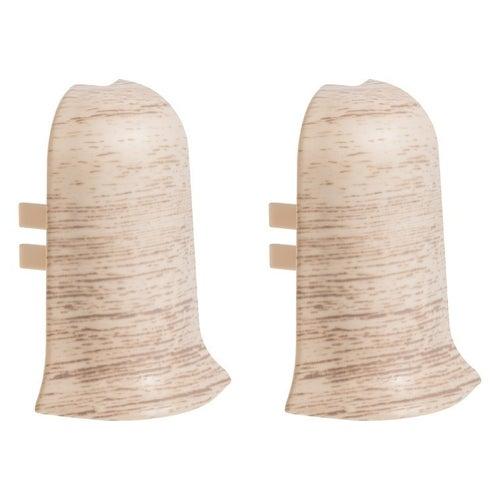 Narożnik zewnętrzny do listew przypodłogowych 403 39x56x23mm Dąb Kremowy op. 2szt