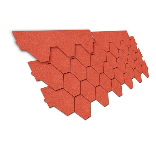 Gont bitumiczny trapez, czerwony, 3 m2 wym. 80x28,5 cm