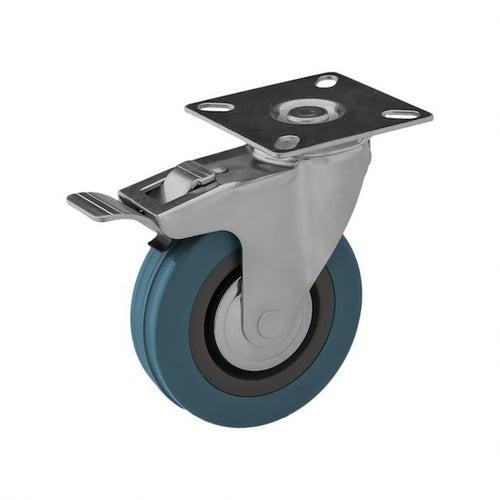 Zestaw jezdny skrętny 100 mm/65 kg z hamulcem