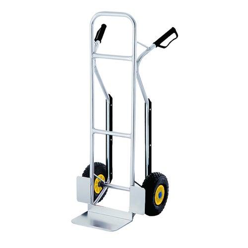 Profesjonalny wózek aluminiowy Stanley ładowność 200kg koła pneumatyczne fi260mm