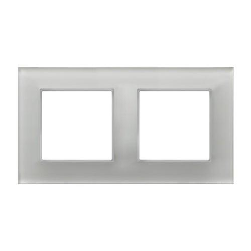 Ospel Aria ramka szkło białe pojdwójna