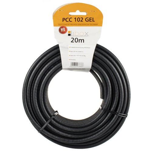 Przewód koncentryczny zewnętrzny 75Ω 1,02/4,7 czarny, 20m