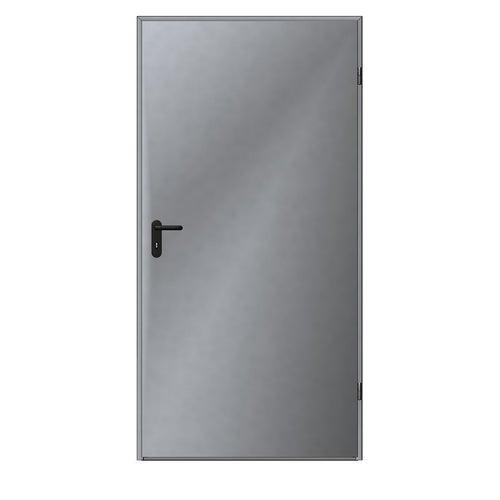 Drzwi techniczne zewnętrzne Zk Iso 100 cm, ocieplone styropianem, ocynkowane
