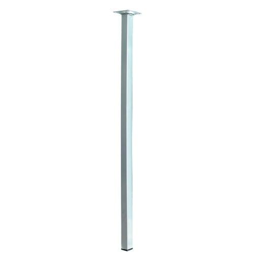Noga meblowa 25x25 700 mm wykończenie aluminium