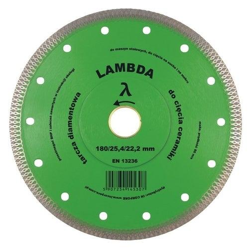 Tarcza diamentowa ryflowana 125x22,2 mm LAMBDA