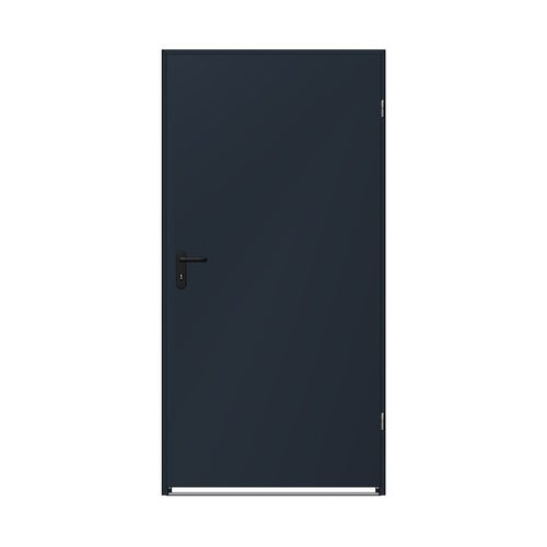 Drzwi techniczne zewnętrzne Zk Iso 90 cm, ocieplone styropianem, antracytowe
