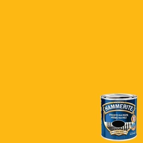 Farba antykorozyja Hammerite żółty połysk 0,25l