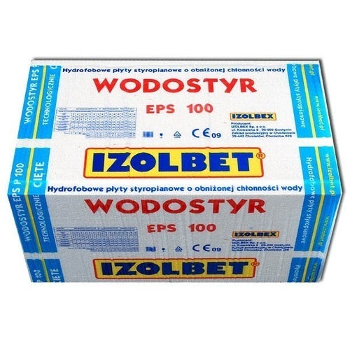 Styropian hydrofobowy Izolbet Wodostyr 5 cm EPS 100 kPa 0,036 W/(mK) 8,64 m2
