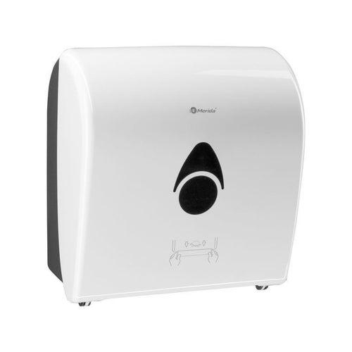 Mechaniczny podajnik ręczników papierowych w rolach Merida Como Automatic, biały,  CCB301