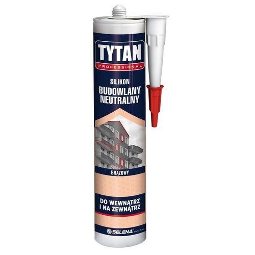 Silikon budwlany Tytan 280 ml, brązowy