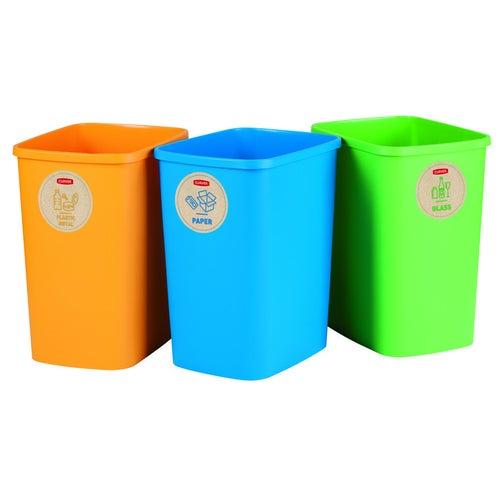 Zestaw koszy na odpady do sortowania 3x25 l