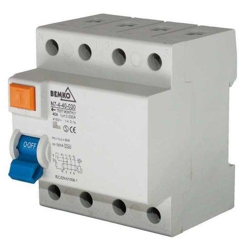 Wyłącznik różnicowoprądowy 4P 40A 30mA AC A05-N7-4-40-0 Bemko