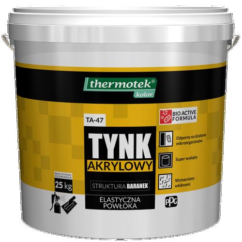 Tynk akrylowy 1,5 mm Thermotek baza A 25 kg