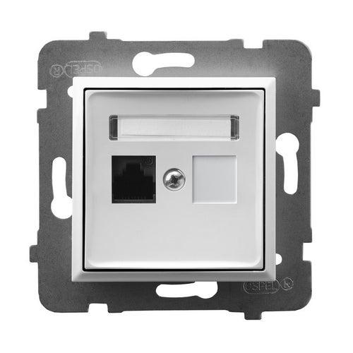 Ospel Aria biały gniazdo komputerowe 1xRJ45 kat 5