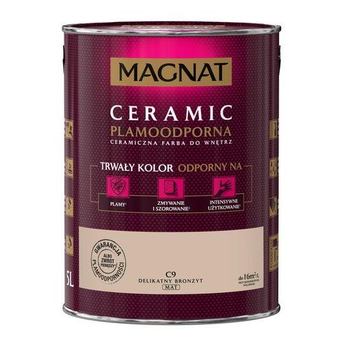 Farba Magnat Ceramic delikatny bronzyt 5l