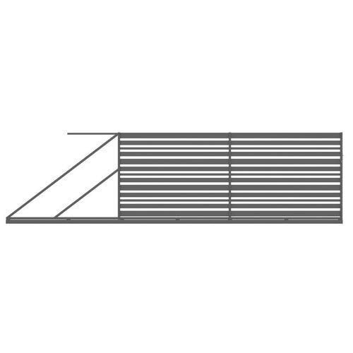 Brama przesuwna Ksenia antracyt, 150x400 cm, lewa, z automatem do bram