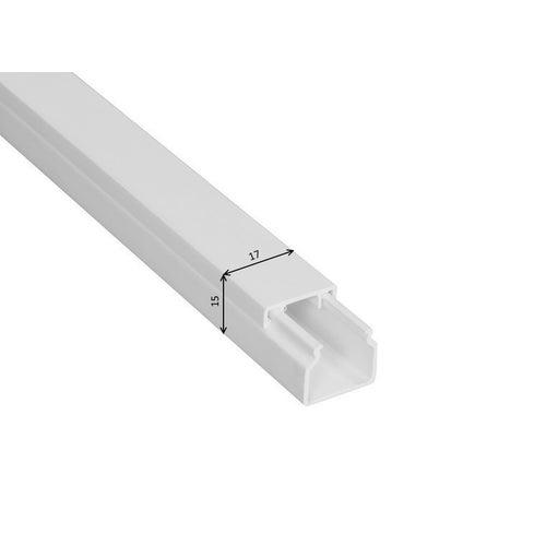 Listwa kablowa MKE 15x17mm UV biały 2m