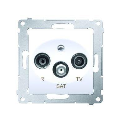 Simon 54 bialy gniazdo antenowe RTV-SAT końcowe
