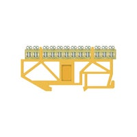 Listwa zaciskowa LZ 12 żółta TH35 E.4056 Pawbol