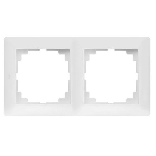 Elektroplast Astoria biały ramka podwójna