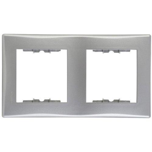 Schneider Sedna aluminium ramka podwójna