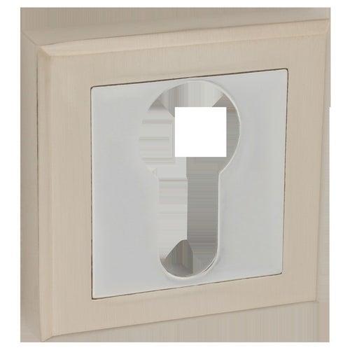 Szyld drzwiowy na wkładkę nikiel/chrom