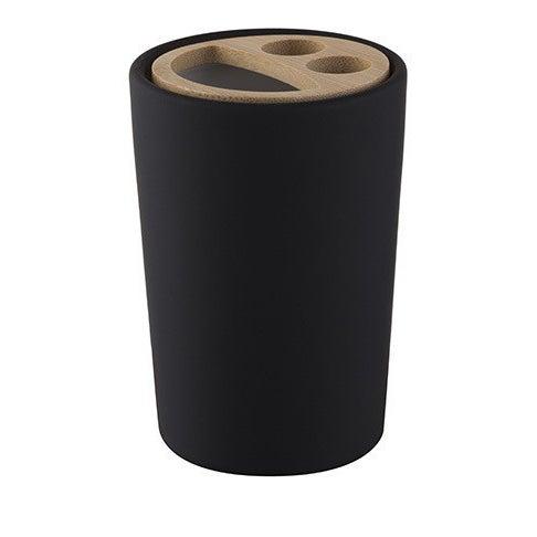 Pojemnik na szczoteczki Plain czarny