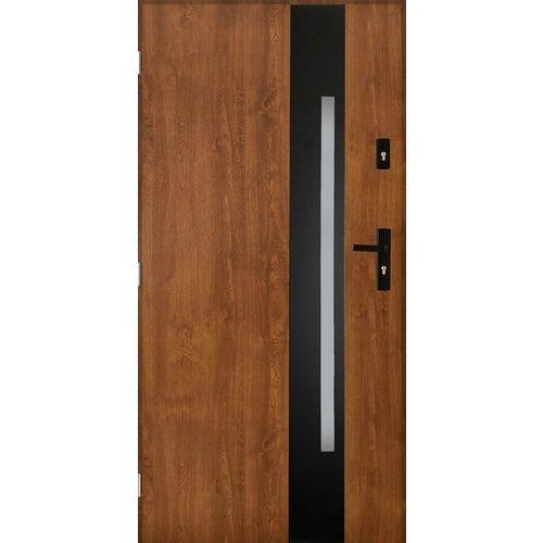 Drzwi zewnętrzne Kraków 2 lewe 90 cm złoty dąb