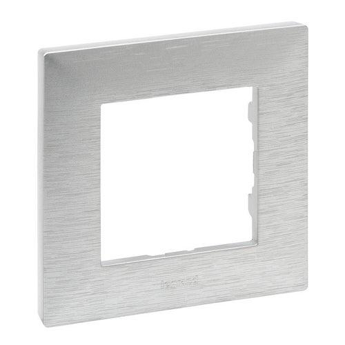 Niloe Step ramka aluminium szczotkowane pojedyncza