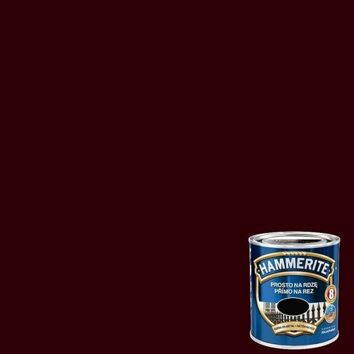 Farba antykorozyja Hammerite ciemny brąz połysk 0,25l