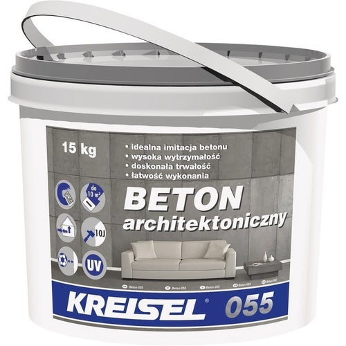 Polimerowy tynk modelowany 055 Kresiel Beton Architektoniczny 15 kg, grupa kolorystyczna I