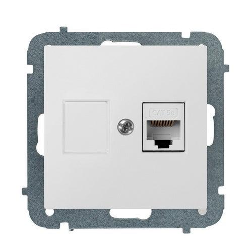 Elektroplast SENTIA biała gniazdo komputerowe 1xRJ45 kat 5