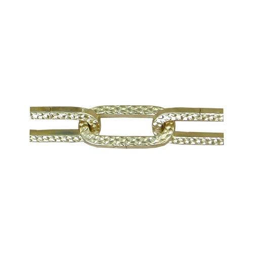Łańcuch dekoracyjny ze wzorem 3.0 mm złoty / 1 m.b.