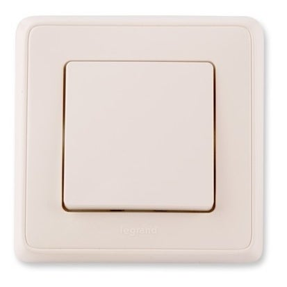 Legrand Cariva biały łącznik krzyżowy z ramką