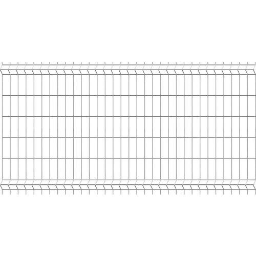 Panel ogrodzeniowy 3D Sparta ocynk, 123x250 cm, oczko 75x200 mm, drut 3.2 mm