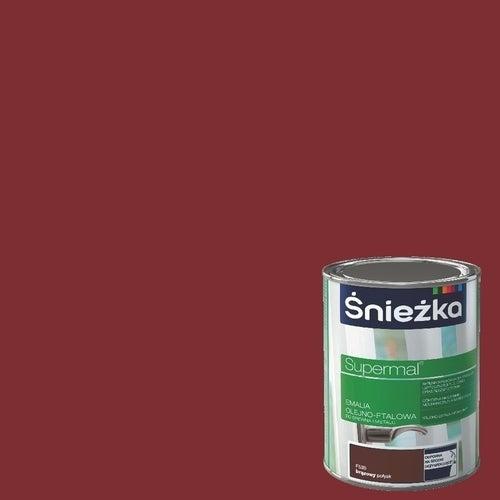 Emalia olejno-ftalowa Śnieżka Supermal wiśniowy 0,8l