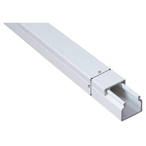 Listwa kablowa MKE 18x20mm UV biała 2m