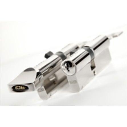 Komplet 2-wkładek bębenkowych w systemie jednego klucza 30x40+40Gx30 mm