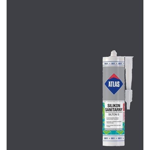 Silikon sanitarny Atlas 036 ciemnoszary 280 ml