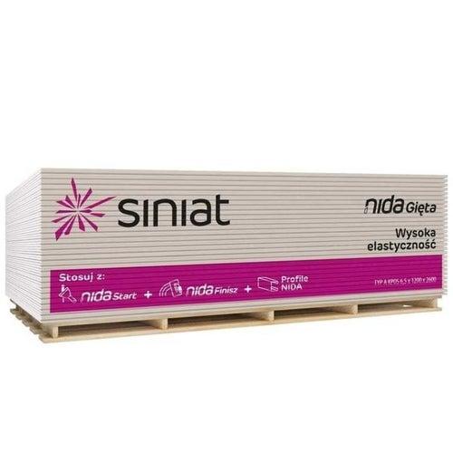 Płyta gipsowo-kartonowa standardowa Siniat Nida Gięta 1200x2600x6,5 mm GKB typ A
