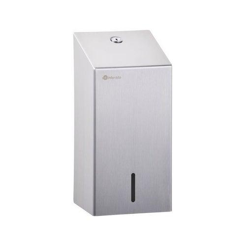 Pojemnik na papier toaletowy w listkach Merida Stella, poj. do 400 szt. listków , stal matowa, BSM401
