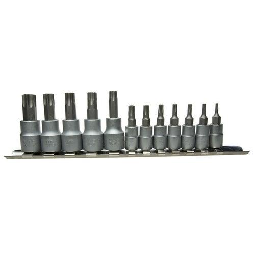 Zestaw końcówek Torx na nasadce 1/4 cala 35 mm, 12 szt.