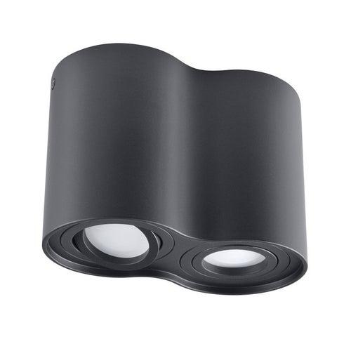 Oprawa sufitowa punktowal HADAR R2 2x10W GU10 IP20 czarna