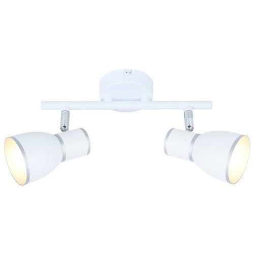 Oprawa scienno-sufitowa Fido 2x40W E14 biały+chrom
