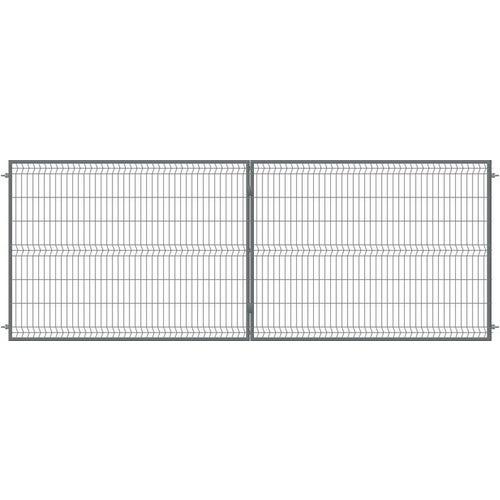 Brama ogrodzeniowa panelowa dwuskrzydłowa antracyt, 150x400 cm