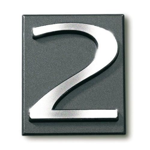 Cyfra 2 samoprzylepna grafit 4x4.7 cm
