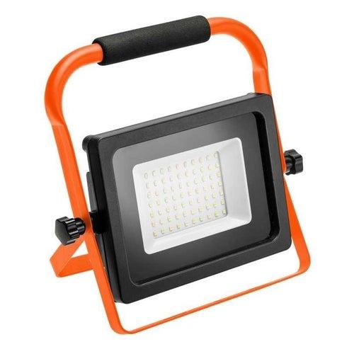 Naświetlacz przenośny LED 50W 4000lm 6500K IP65 pomarańczowy