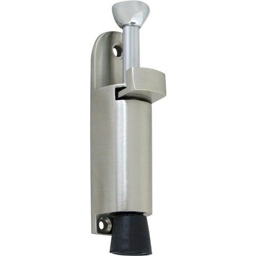 Ogranicznik do drzwi nikiel satyna 12x2.3x3.2 cm