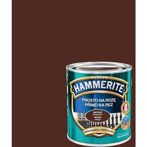 Farba antykorozyja Hammerite brązowy mat 0,7l