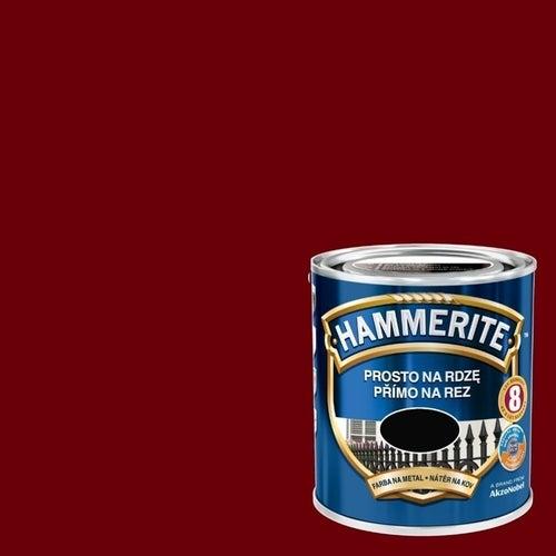 Farba antykorozyja Hammerite wiśniowy połysk 2,5l